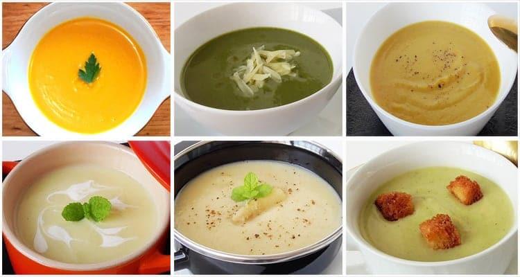 Seis cremas de verduras para DIETAS