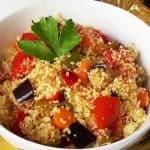 cuscús con verduras para dietas.