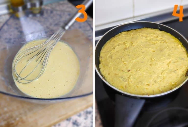 Preparación y cocinado tortilla de patatas