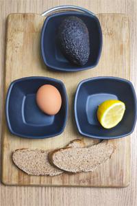 Tostada saludable de aguacate ingredientes