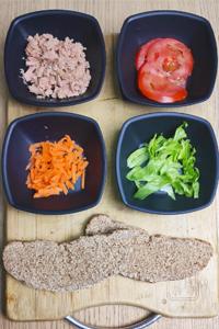 Tostada saludable de atún ingredientes