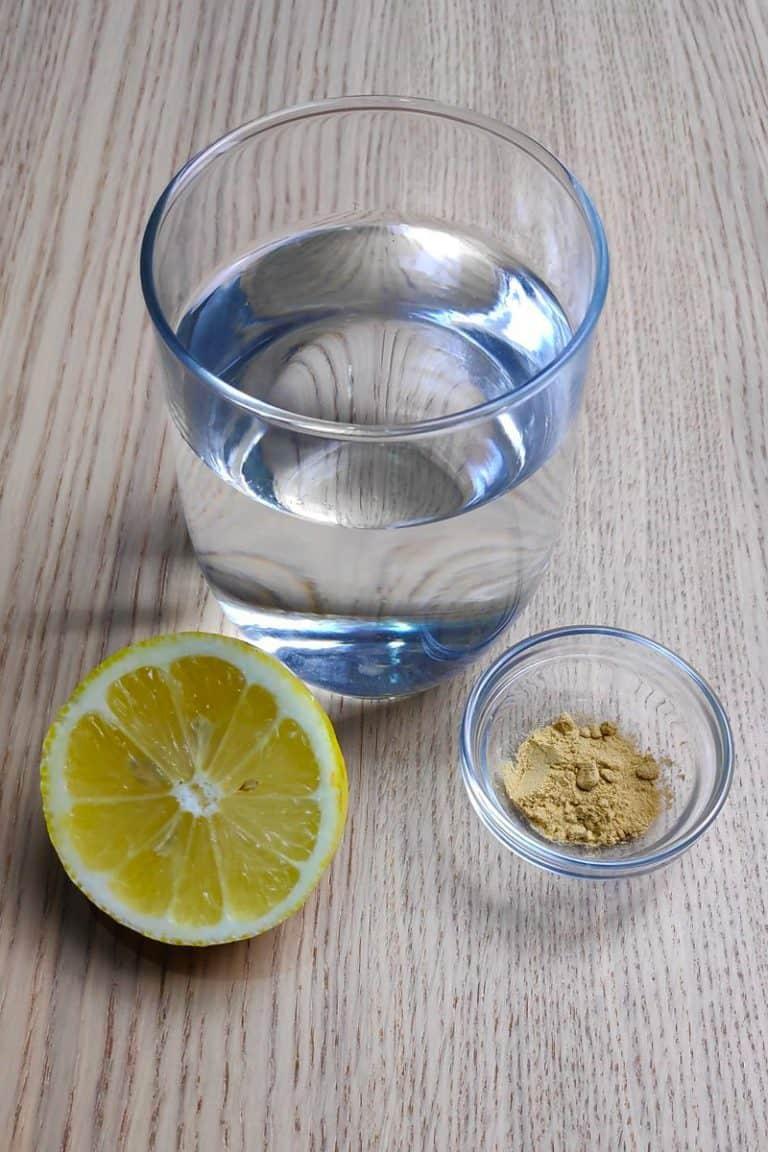 ingredientes infusión de jengibre y limón