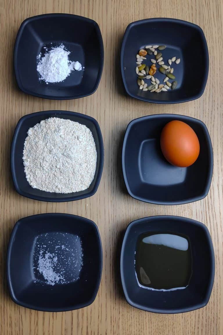 ingredientes pan de avena en microondas