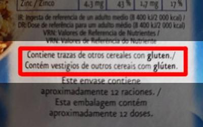 Copos de avena Mercadona contiene GLUTEN