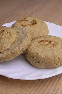 Pan de avena en sartén