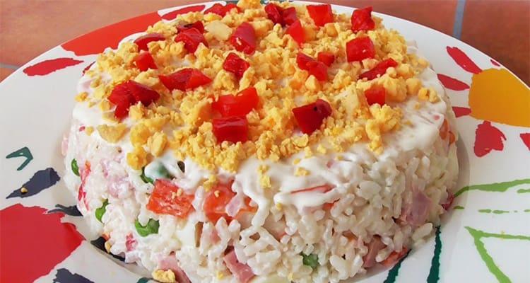 Pastel de arroz frío.